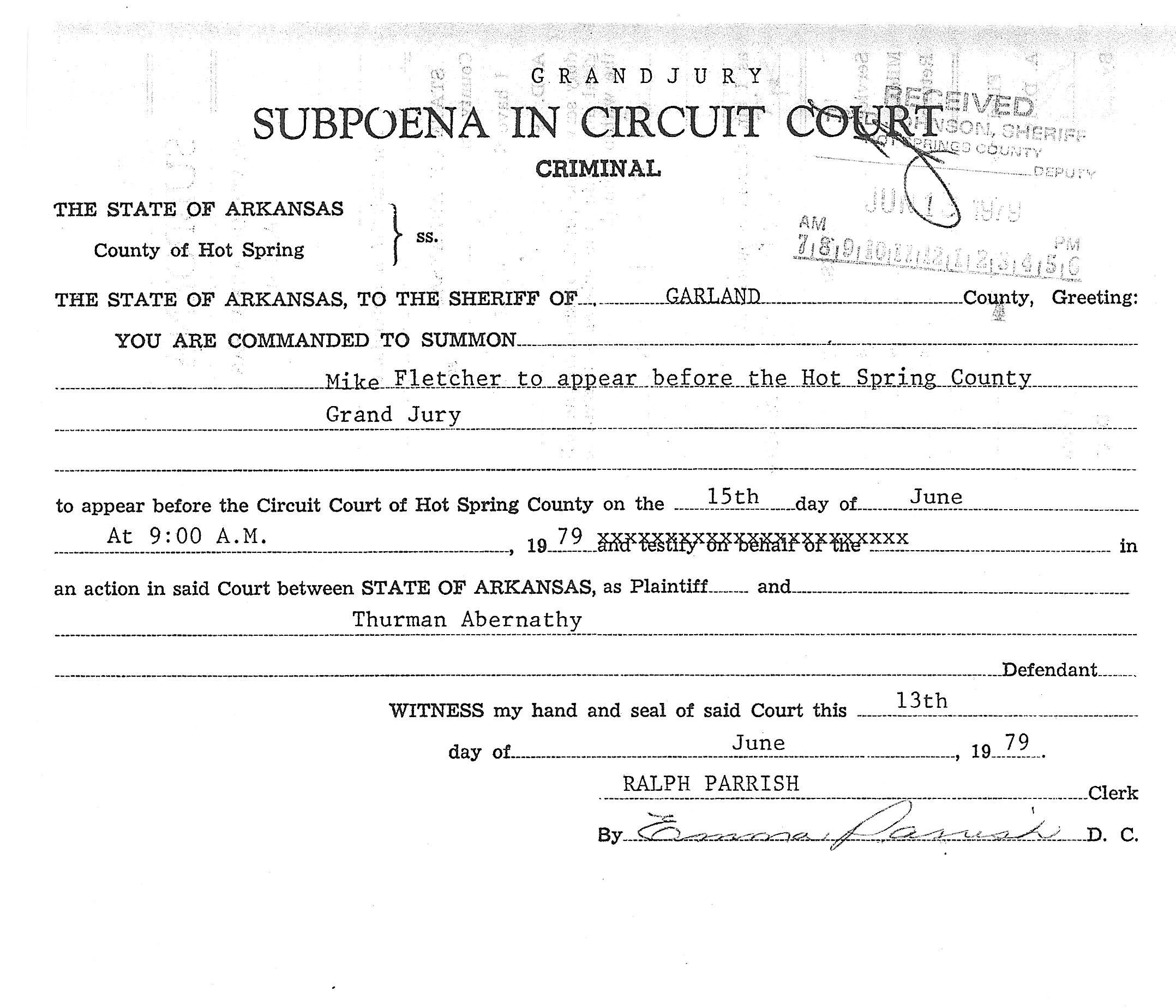 06_13_1979_Subpoena in Circuit Court 1